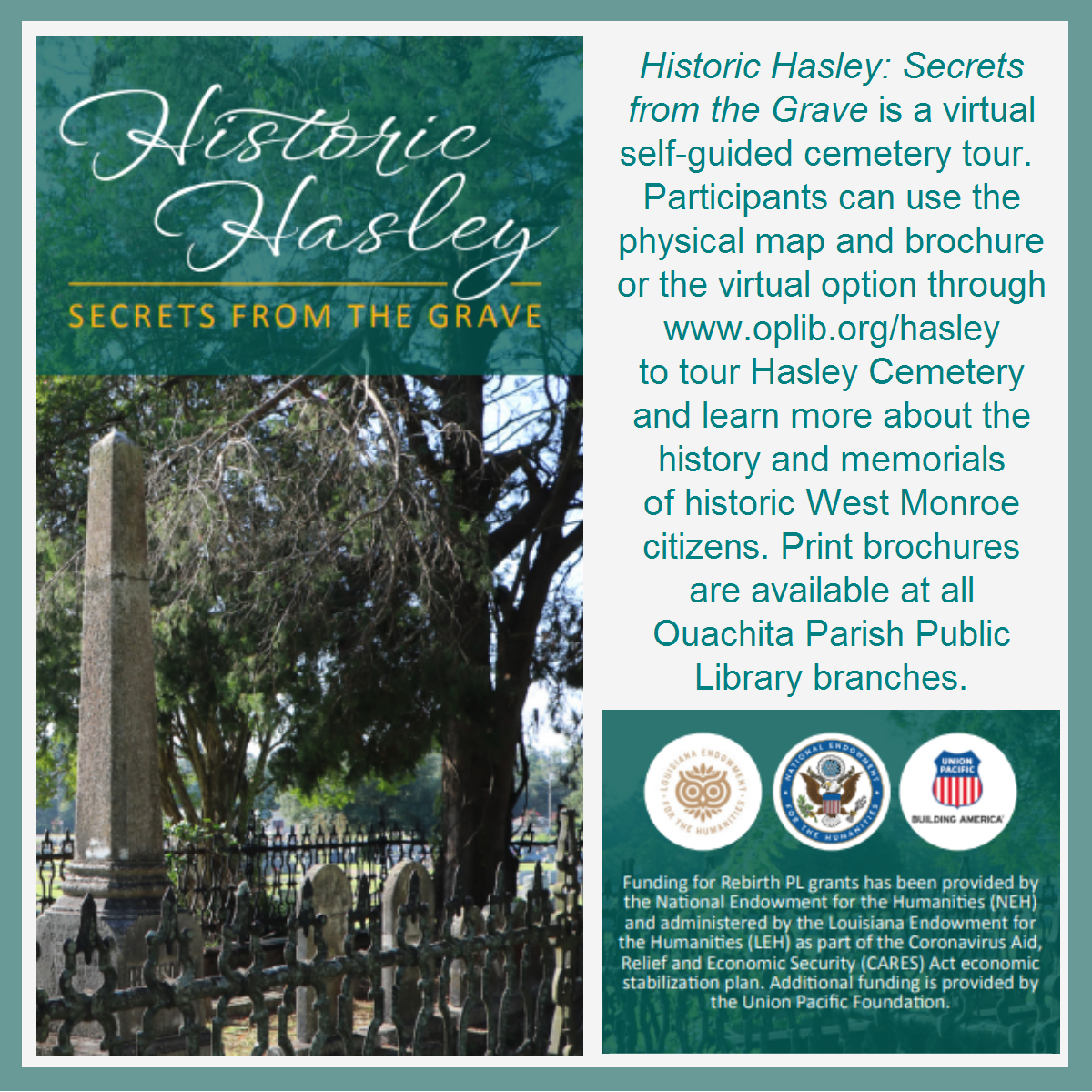 Image from the Hasley Cemetery Tour Brochure