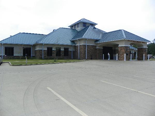 Front of Cpl. J.R. Searcy Memorial Branch Library