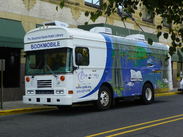 Front of the Ouachita Parish Public Library bookmobile